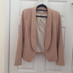 Loft blush nude easy-care blazer
